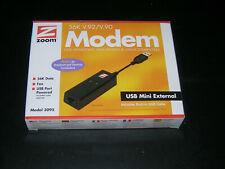 ZOOM 56K V.92/V.90 Dial-up External USB Modem Model 3095 - USED WITH BOX