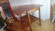 Vintage 40s/50s Wood Trolley On Wheels Extending Top Level
