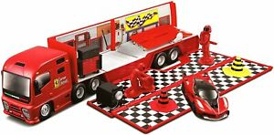 1/43 Bburago Camion De Transport Ferrari Stand Course Ferrari Livraison Domicile