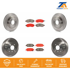 Front Rear Disc Rotors & Semi-Metallic Brake Pads For Nissan Leaf