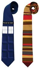 DR WHO TIE & TARDIS TIE COMBO PACK LICENSED DOCTOR WHO COSTUME TOM BAKER NEW!