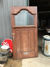 Teen 53 Antique Victorian Entrance Door Double Glass Wheel Cut Center 40 3/4""