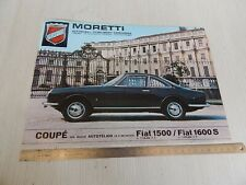 DEPLIANT BROCHURE ORIGINALE FIAT MORETTI 1500 1600 ss coupé