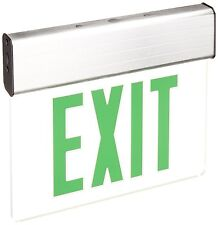 Green LED Edge Lit Double Face Exit Light 4/pk Mirror