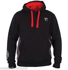Fox Rage Ribbed Hoody Black Grey Hoodie  Kapuzenpullover UVP 59,95€