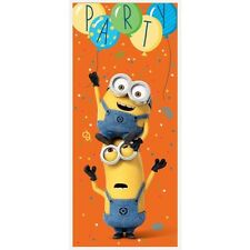 DESPICABLE ME Minion Made PLASTIC DOOR POSTER ~ Birthday Party Supplies Sign