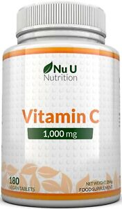 Vitamin C 1000mg Immune support 180 tablets not capsules High Strength