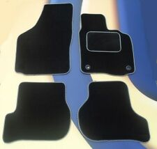 MERCEDES C CLASS 07-11 AUTOMATIC BLACK / SILVER EDGE  CAR FLOOR MATS + 2 CLIPS B