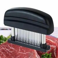 Meat Tenderizer 48 Blade Stainless Steel Needle Prongs Home Kitchen Tool Black