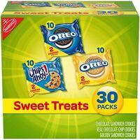 Nabisco Cookies Sweet Treats Variety Snacks Party School 30Pack Oreo Chips Ahoy