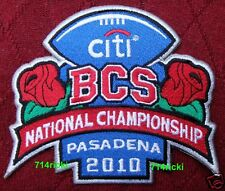 2010 BCS National Championship Game Patch Alabama Crimson Tide Texas Longhorns