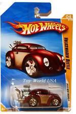 2010 Hot Wheels #04 New Models Volkswagen Beetle drk red
