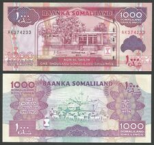Somaliland 1000 SHILLINGS 2011 P 20a UNC