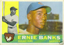 Topps 1960 Ernie Banks Baseball Card # 10