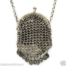 Low Luv Erin Wasson Silver Plated chain mail bag necklace