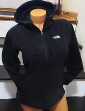 WOMEN'S SIZE XL THE NORTH FACE BLACK FLEECE JACKET FULL ZIP TUNDRA HOODIE