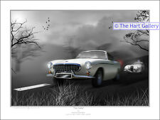 Volvo P1800 Car Fantasy Art Limited Edition Signed Print Picture The Saint