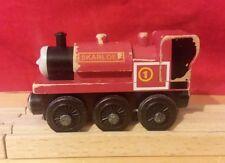 Thomas & Friends Wooden Railway Train Skarloey Engine 2003 Learning Curve RARE!
