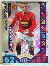 Match Attax 2016/17 Premier League - #386 Wayne Rooney - Game-Changer