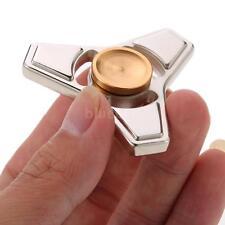 Hot Mini Metal Alloy Tri Fidget Hand Finger Spinner Spin Focus Toy Silver V3V9