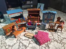 LOT Vintage Dora Kuhn Hand Painted Dollhouse Furniture ACCESSORIES and More