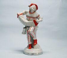 Harlekin  Russische  Petruschka mit Harmonika   Art - Deco  Figur  Katzhuette