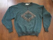 Vintage MARQUIS Sweater With Leather Patch Size L