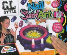 Girls Nail Art Kit Swirl Machine Glitter Polish Manicure Art Craft Kids Toy Set