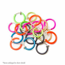 Fake Jewelry Hoops fool you 20pc Anodized Finish No Holes