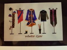 Turquoise Graphics & Designs Cross Stitch Chart  Winter Gear