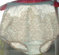 Vintage Aqua Sheer GOTHAM Chiffon Ruffle Nylon Panties Lace DBL GUSSET 6