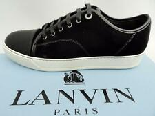Lanvin Noir en Cuir Baskets Sneakers Chaussures UK9 43 US10 Neuf Authentique