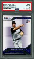 2009 tristar prospects plus #47 NOLAN ARENADO rockies rookie card PSA 9
