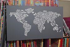 Weltkarte Abstrakt Gemälde Unikat Acryl Bilder Handmade