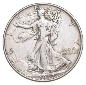 1937 Walking Liberty 90% Silver US Half Dollar *787