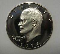 Beautiful 1974-S Proof Clad Eisenhower Ike Dollar Flashy Gem   DUTCH