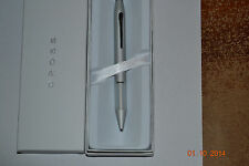 Cross Easy Writer Satin Chrome Ballpoint Pen with Comfort Grip - New In Box