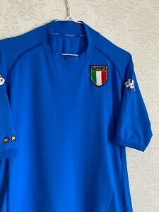 ITALY NATIONAL 2002 2003 2004 HOME FOOTBALL SHIRT KAPPA JERSEY SIZE XL MAGLIA