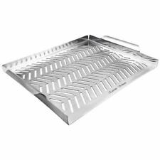 Stainless Steel Bbq Grill Pan Topper Charcoal Gas Cooking Grilling Accessories