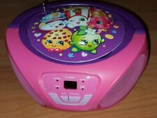 SHOPKINS Portable Boombox CD Player FM/AM Radio Music Player - Works Perfectly!