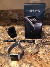 fitbit ionic smartwatch charcoal/smoke gray