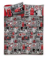 Completo lenzuola PIAZZA e Mezza LONDON LONDRA bus rosso