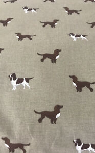 Large Dog Bed in Sophie Allport Spaniel Fabric with Removable Cover 130cm x 83cm