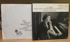 WANDA LANDOWSKA J.S. BACH THE WELL-TEMPERED CLAVIER COMPLETE LP RCA LM 6801 (6)