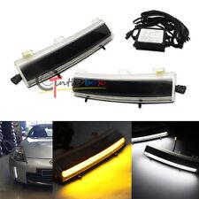 Switchback LED Front Bumper Reflector Daytime Running Lights For Nissan LCI 350Z