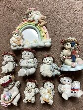Lot of 8 Dreamsicles Cherub Figurines With Picture Frame.