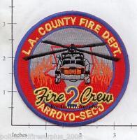 California - Los Angeles County Arroyo Seco CA Fire Dept Fire Dept Patch