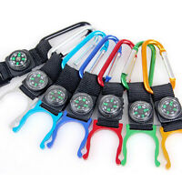 2pcs New Compass Outdoors Camping Carabiner With Water Bottle Clip Holder Random
