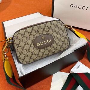 Authentic Gucci Neo Vintage GG Supreme Canvas Messenger Bag