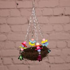 Parrot Pet Bird Swing Hanging Chew Toys Parakeet  Cockatiel Nest Hammock SO